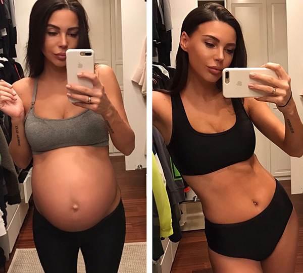 Похудение после родов: до и после