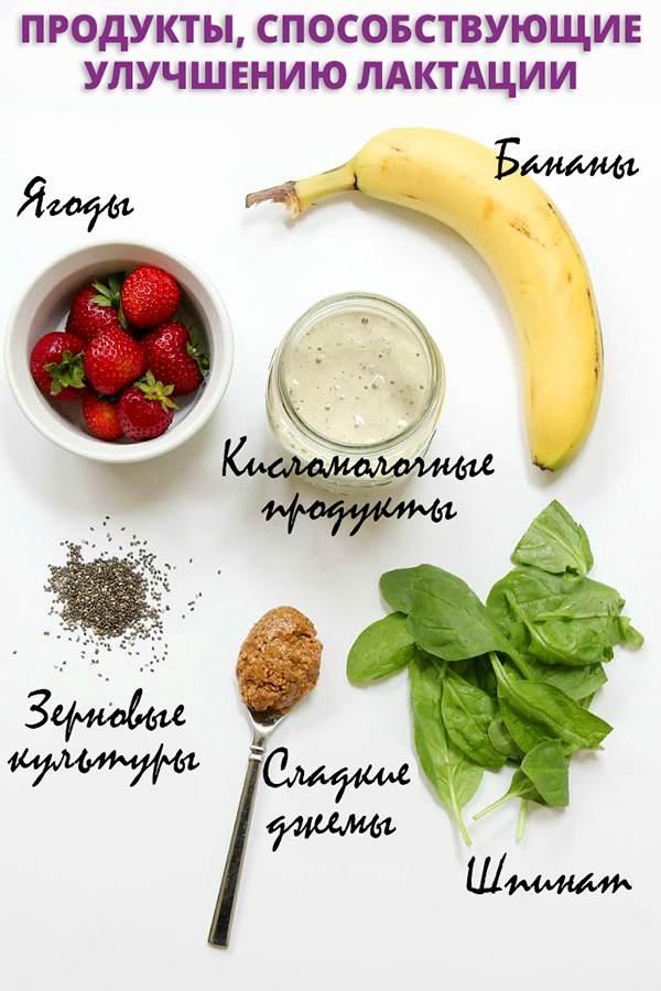 Перечень полезных для лактации продуктов