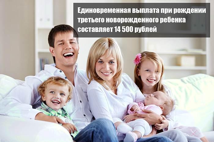 Точная сумма единоразового пособия при рождении третьего новорожденного